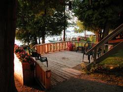 Deck at #7 Cottage
