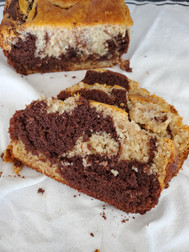 Gluten-free, Plant-based Marble Loaf Cake