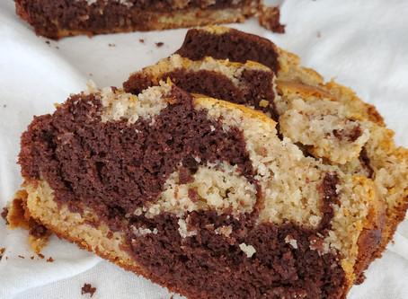 Gluten-free, Plant-based Marble Loaf Cake