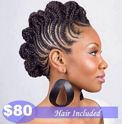 $80 | Corn Rows Mohawk