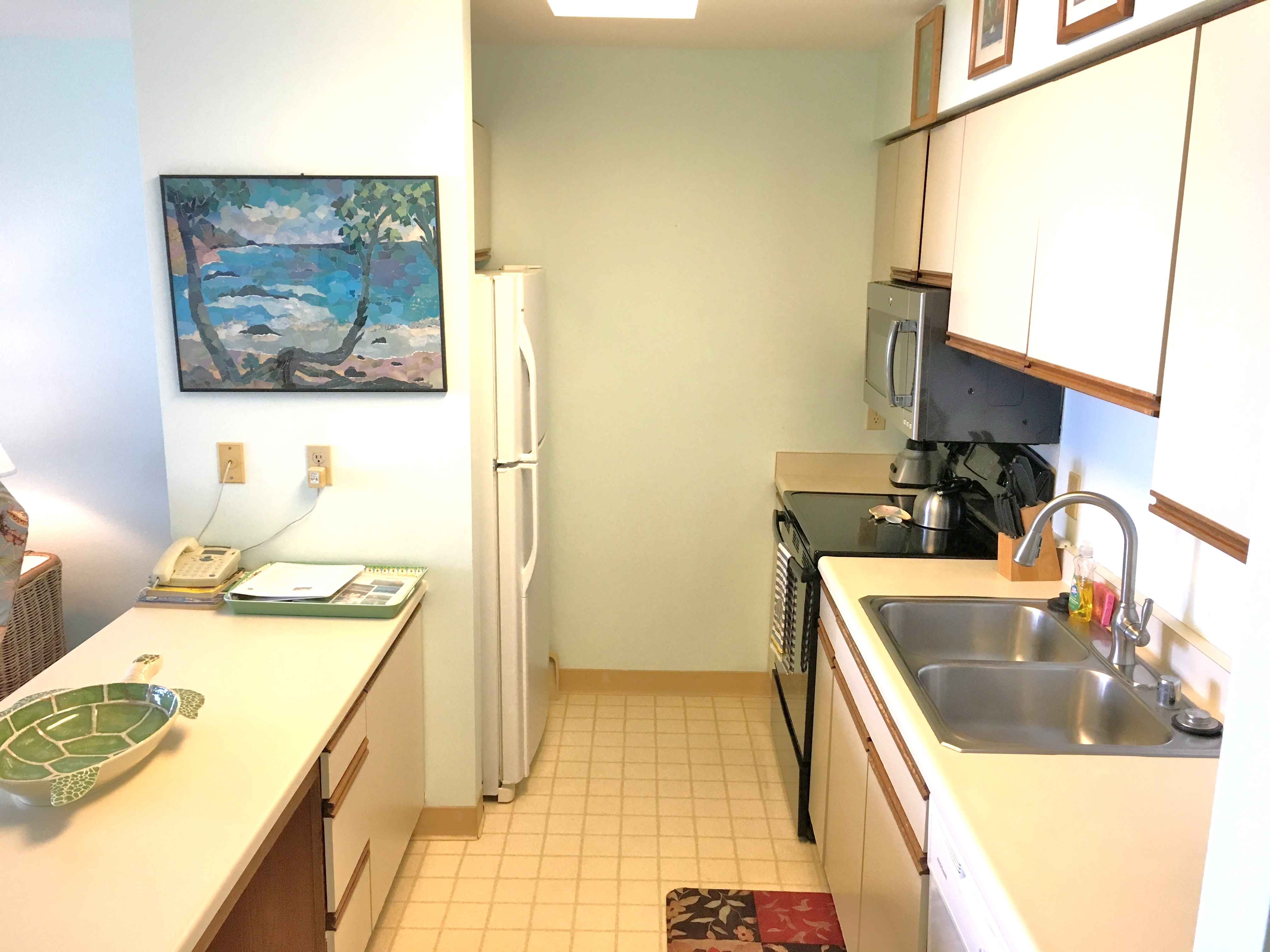 Kitchen in Wailua vacation rental