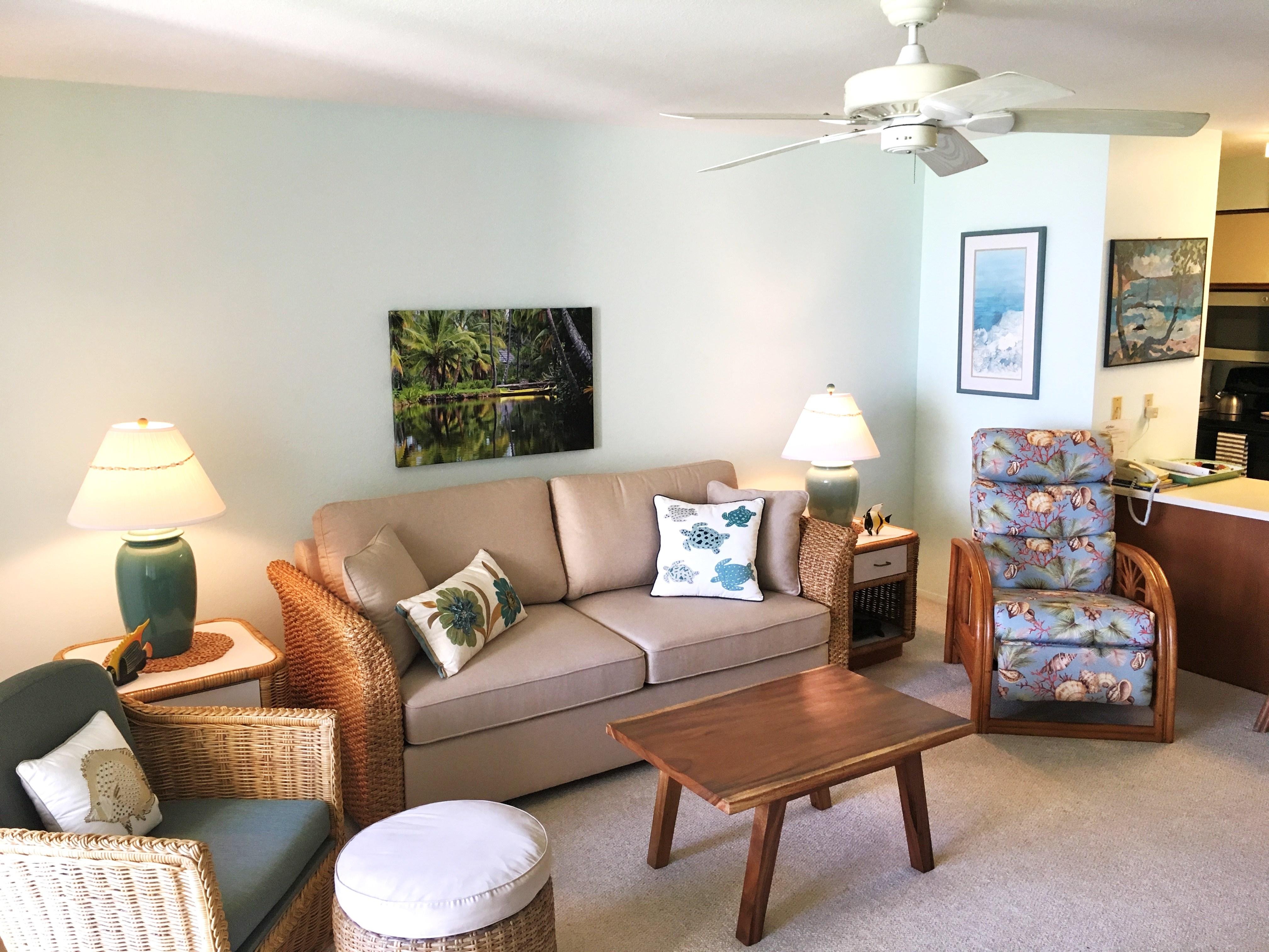 Wailua Bay View 103 living room