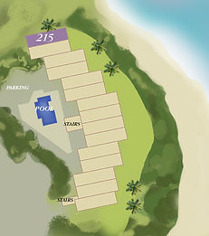 Property map location of Kauai condo rental 215 at Wailua Bay View in Kapa'a.