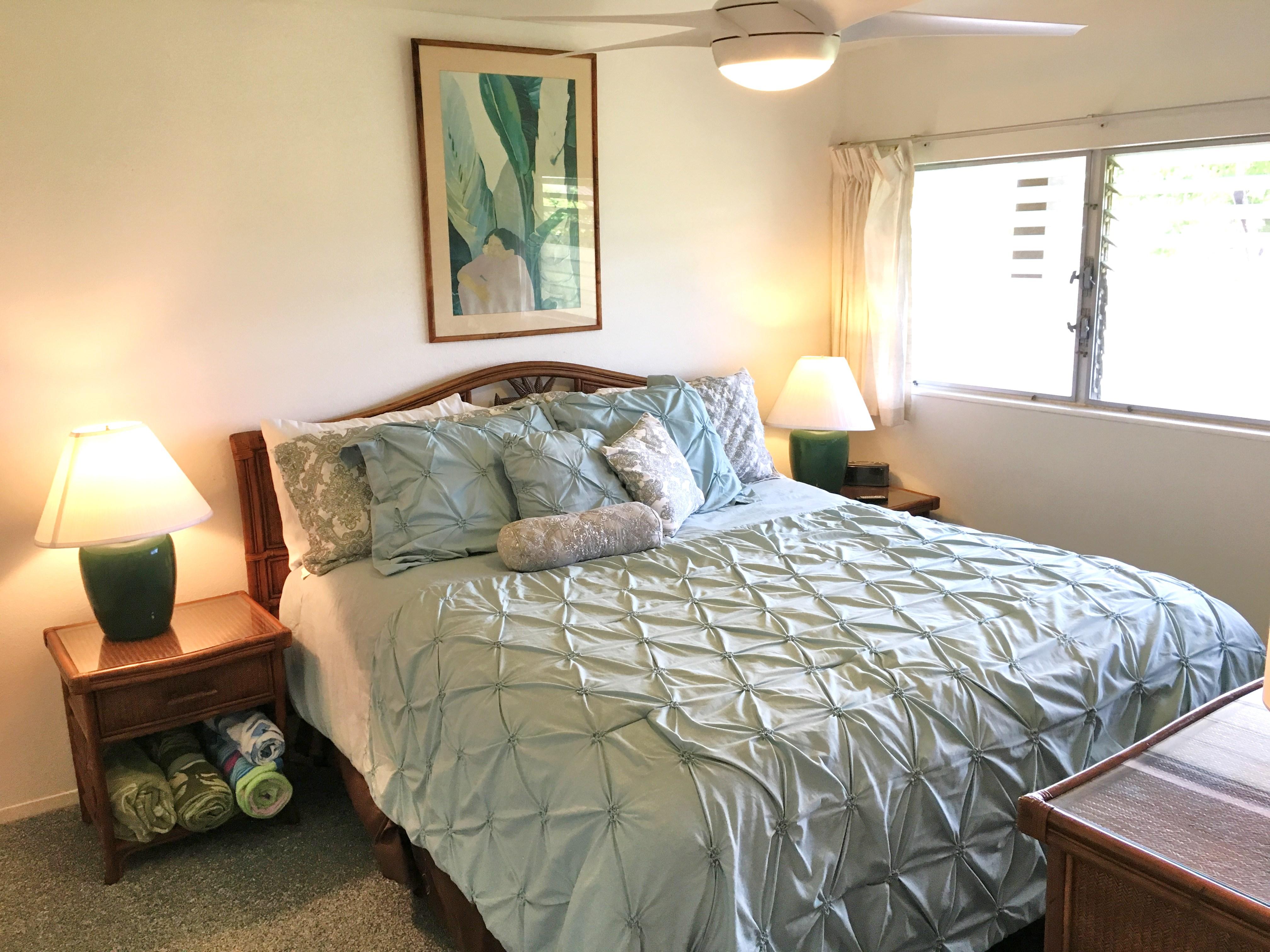 Bedroom at Kauai vacation condo