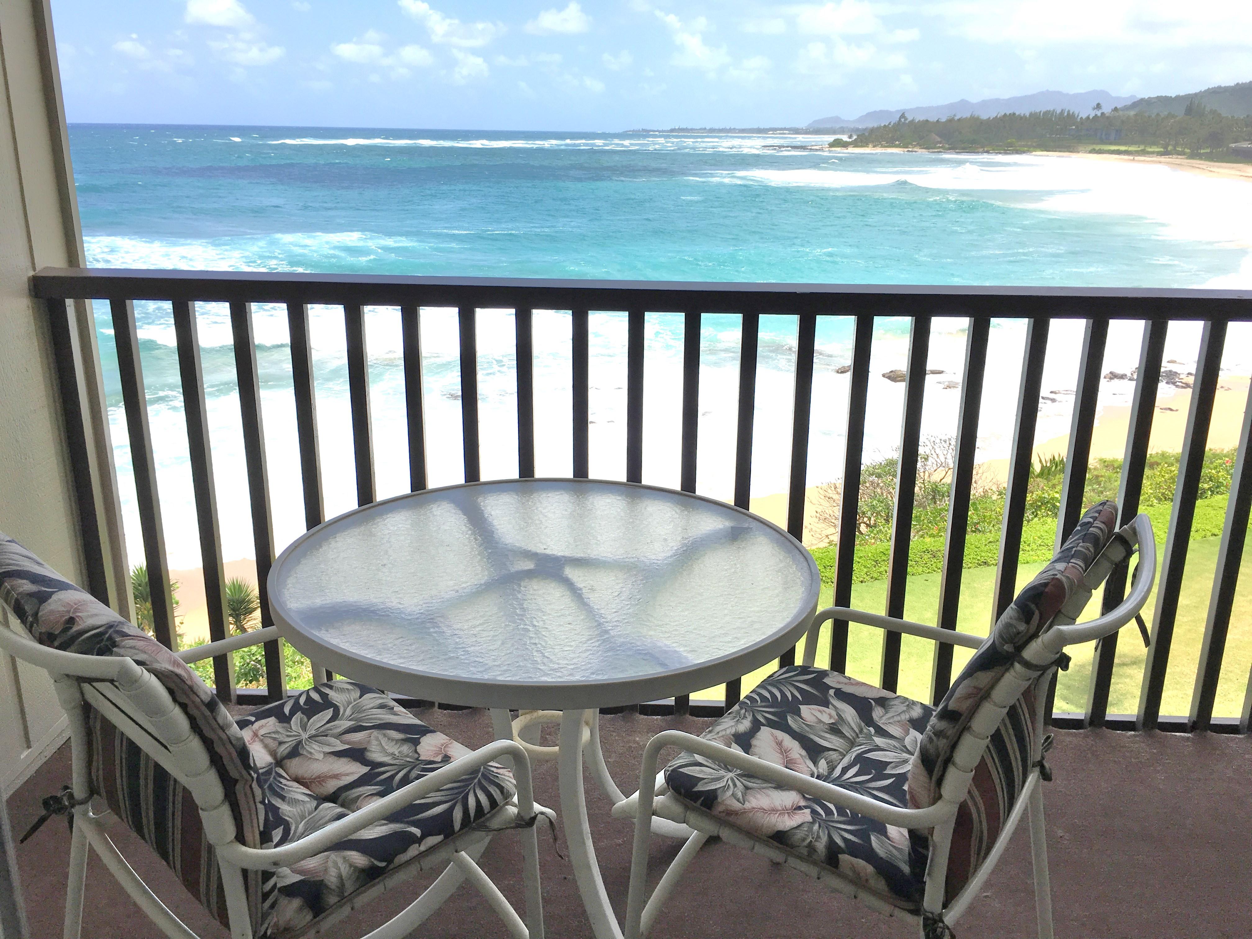 View from Wailua Bay View 215 condo
