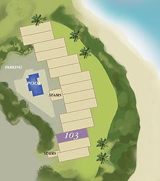 Property map location of Kauai condo rental 103 at Wailua Bay View in Kapa'a.
