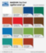 ตัวอย่างสีแผ่นหลังคาเหล็กเมทัลชีท บลูสโคป แซคส์® คูล - ซีเจ