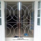 ประตูสแตนเลสดัด เกรด 304 รับผลิตงานสแตนเลสตามต้องการ - ซีเจ