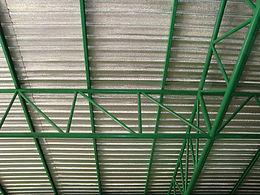 ผลงานหลังคาเมทัลชีทพร้อมฉนวนกันความร้อนพีอี โฟม (Pe Foam) - ซีเจ