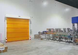 ประตูม้วนไฮสปีด เหมาะสำหรับอุตสาหกรรม คลังสินค้า ห้องเก็บความเย็น - ซีเจ เมทัลลิค
