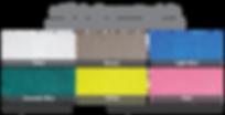 ตัวอย่างสีแผ่นโพลีคาร์บอเนต ชนิดแผ่นตัน ผิวส้ม (Embossed Sheet) สวยงาม หลากสีสัน - ซีเจ