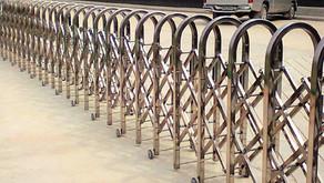 ผลงานประตูเลื่อนพับอัตโนมัติ (Folding Gate) โครงการตลาดต่อยอด