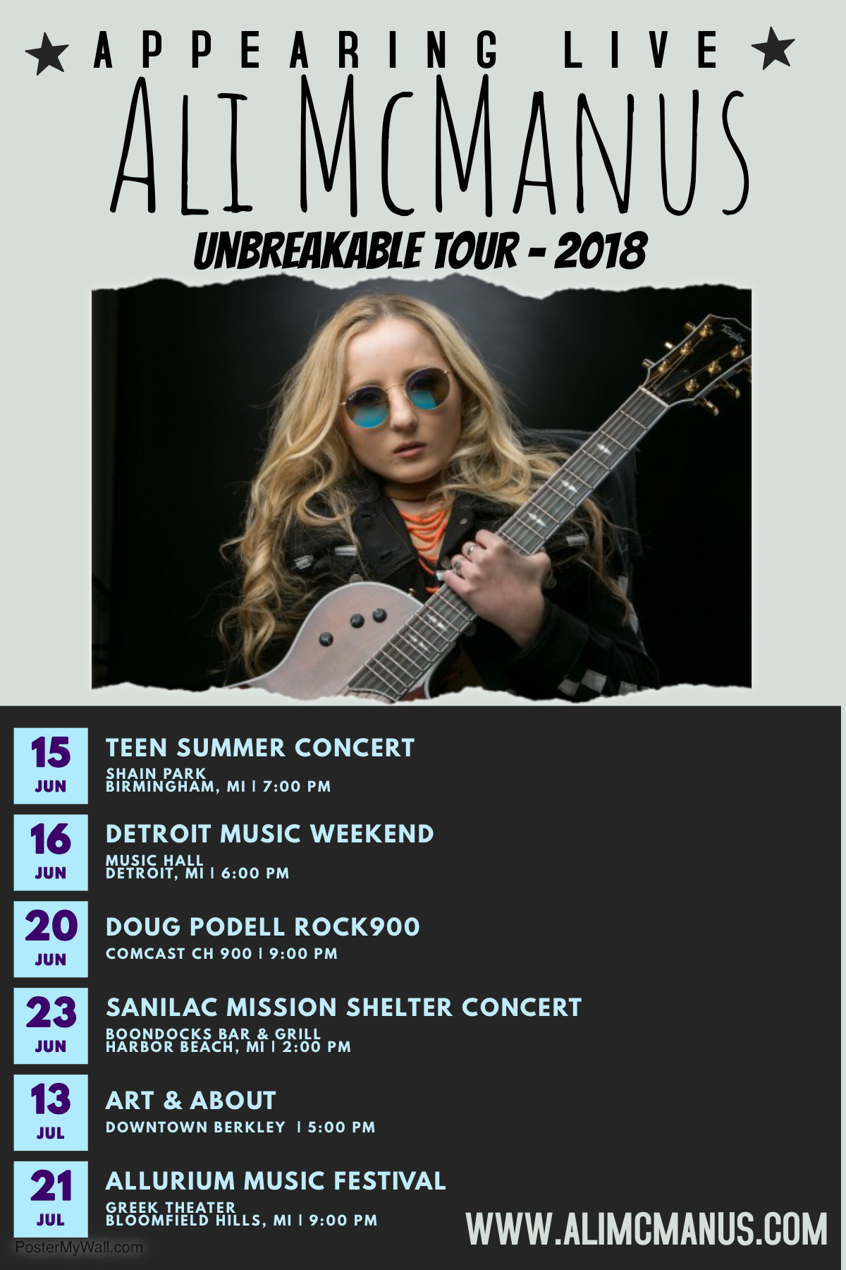 Ali Mcmanus On The Move Upcoming Shows In Detroit