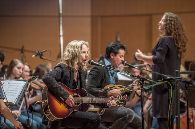 Tommy Shaw and Liza Grossman (conductor)