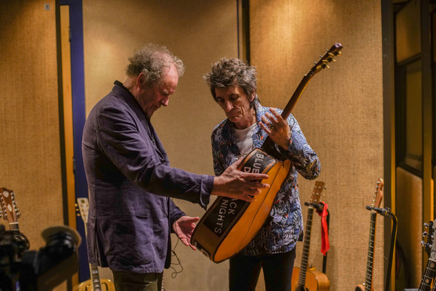 Director Mike Figgis and Ronnie Wood