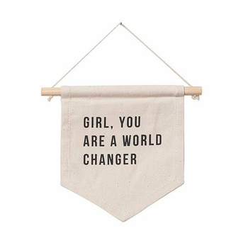 Girl, You're A World Changer Wall Hanging Banner