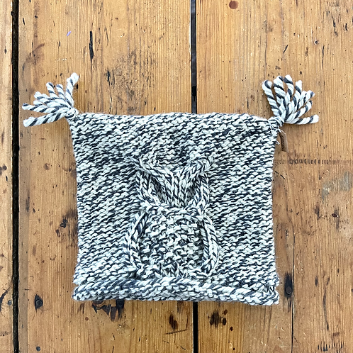 Grey and White Owl Hat - Child