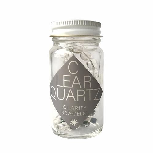 Clear Quartz Crystal Gemstone Bracelet