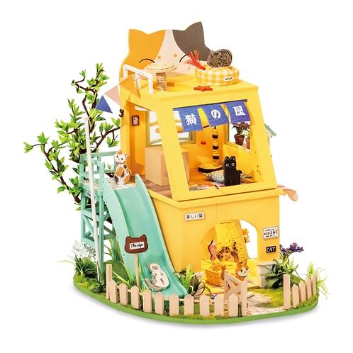 Cat House DIY Miniature Dollhouse Kit