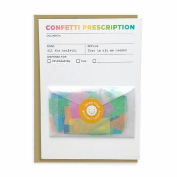 Confetti Prescription Card