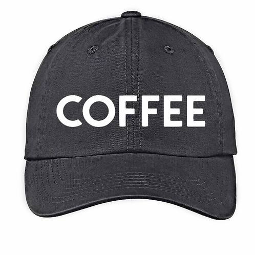 Coffee Washed Black Baseball Cap