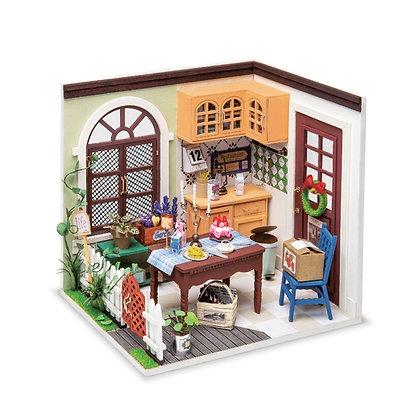 Charlie's Dining Room, DIY Miniature Dollhouse Kit