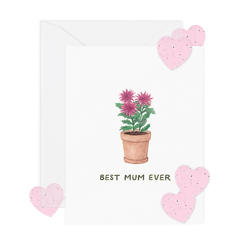 Best Mum w/ Seed Paper Confetti