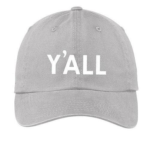 Y'All Grey Baseball Cap