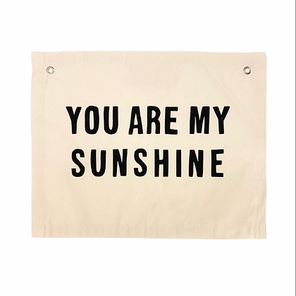You Are My Sunshine Banner Wall Hanging Sign