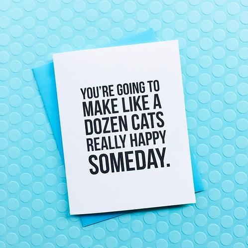 A Dozen Cats Card
