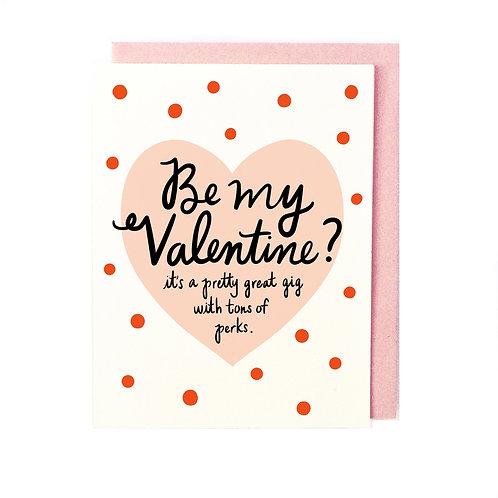 Valentine Perks Card
