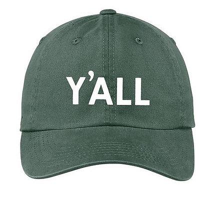 Y'All Green Baseball Cap