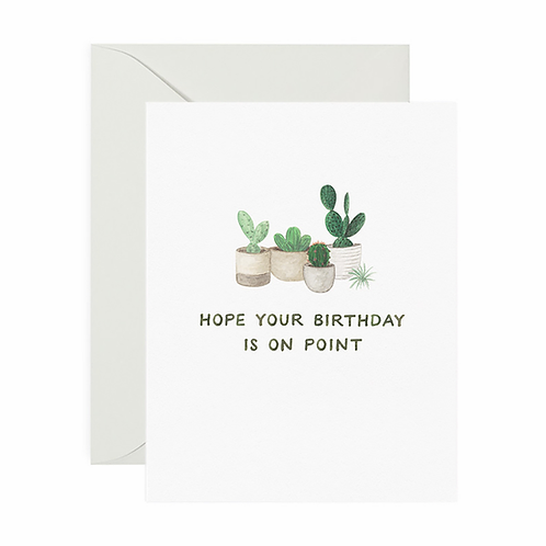 On Point Birthday Card