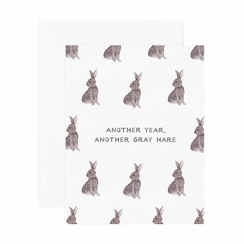 Gray Hares Birthday Card