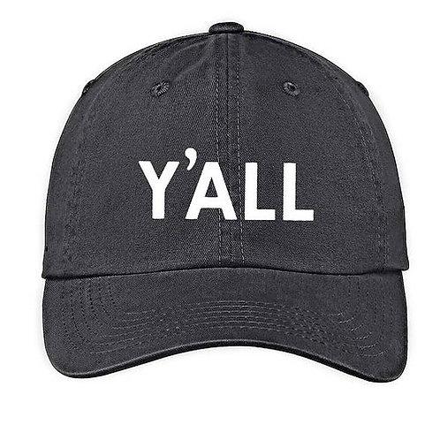 Y'All Washed Black Baseball Cap