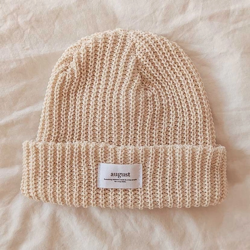 Natural Recycled Oranic Cotton Beanie