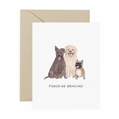 Pooch-as Gracias Thank You Card