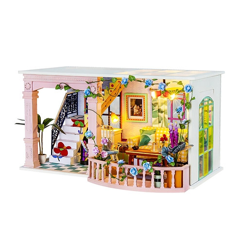 Sweet Patio DIY Miniature Dollhouse Kit
