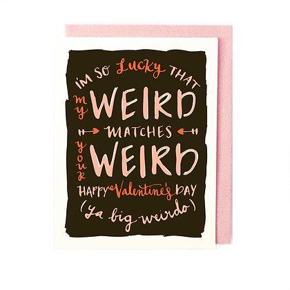 Weird Match Valentine Card