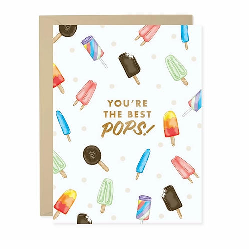 You're The Best Pops Greeting Card