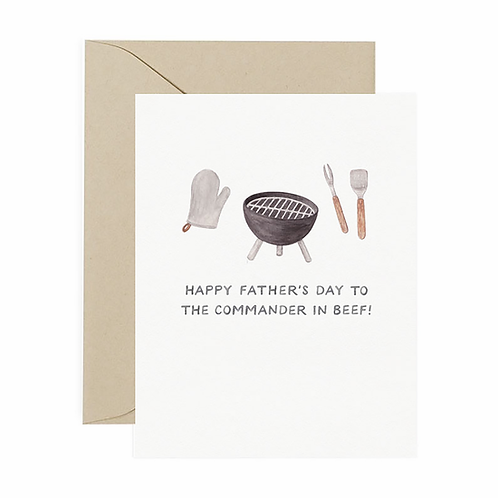 Commander In Beef Father's Day Card