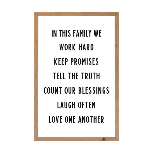 Magnetic Farmhouse Brown In This Family We Wall Art