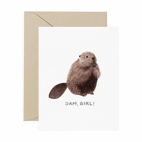 Dam Girl Card