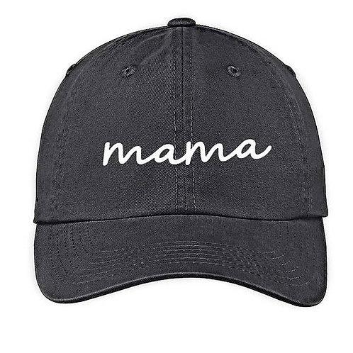 Mama Washed Black Baseball Cap
