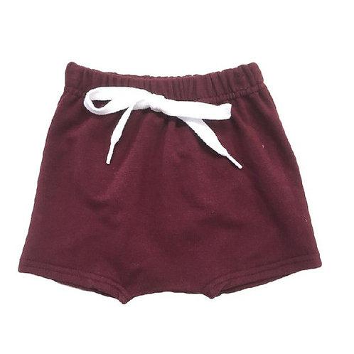The Maroon Harem Shorts