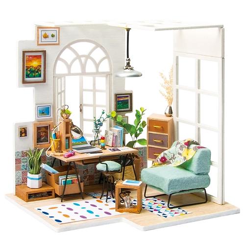 Soho Time DIY Miniature Dollhouse Kit