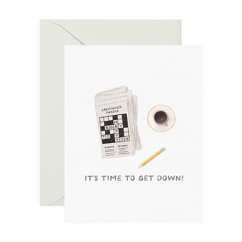 Crossword Birthday Card