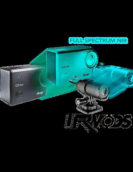 4K Full Spectrum IR Night Vision GitUp G3 Duo + Slave Camera