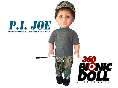 "360 BIONIC BINAURAL MIC TRIGGER DOLL 18"" P.I. JOE RENTAL #103"