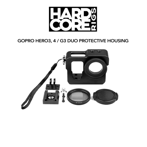 Metal protective housing for GoPro Hero3/4, GitUp G3 Duo